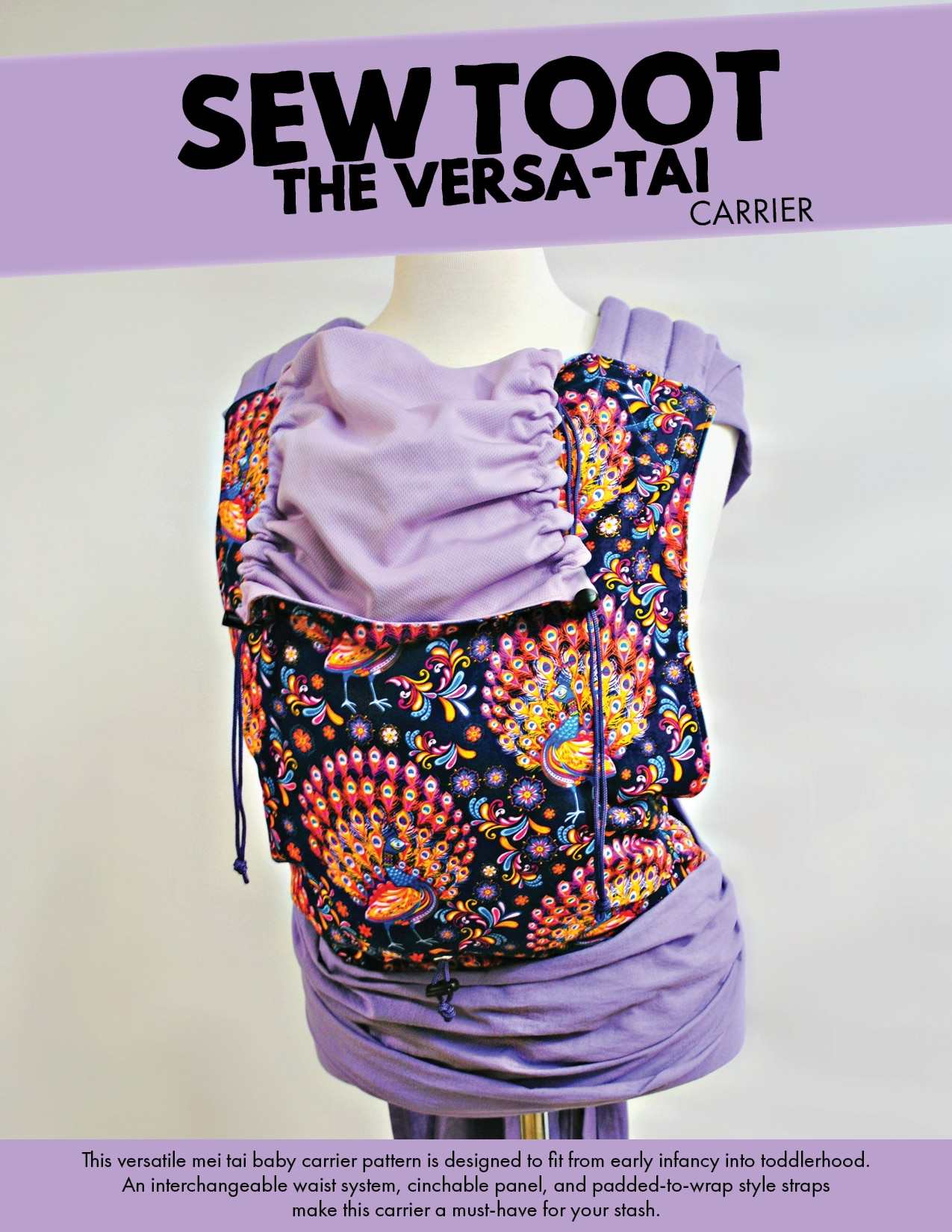 Adjustable Book Cover Sewing Pattern : Adjustable meh dai baby carrier pattern by sew toot